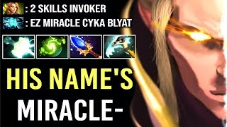 Don't Trash Talk vs Miracle- Invoker GOD Epic Gameplay Comeback WTF Dota 2