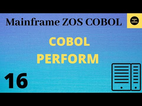 Mainframe Cobol Tutorial Part 6,Perform