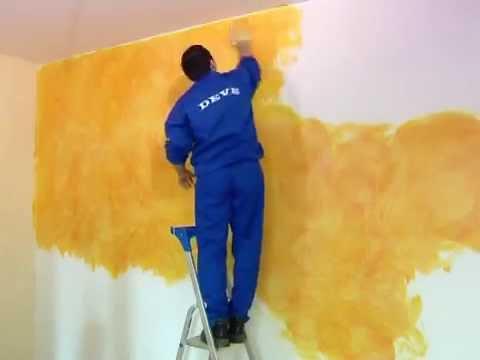 Tencuiala Decorativa Interior Pret.Amenajare Cu Vopsea Decorativa Rustico Youtube