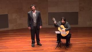 """""""An die Musik""""- Schubert w/ guitar and tenor"""