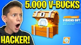 HACKER ENTRA in LOBBY e MI REGALA 5.000 V-BUCKS!! 😱 *NON CI CREDO* - FORTNITE 2