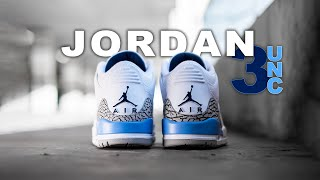 Air Jordan 3 UNC | On Foot 4K