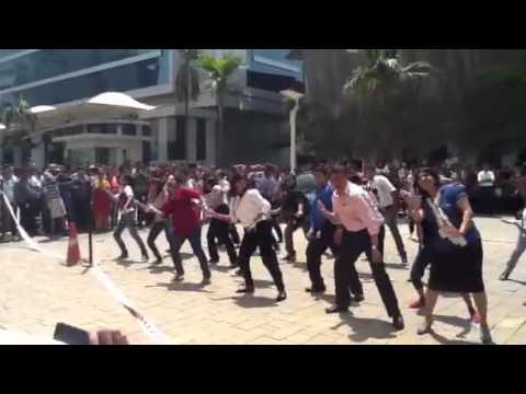 IBM Bangalore employees celebrate with a flash mob
