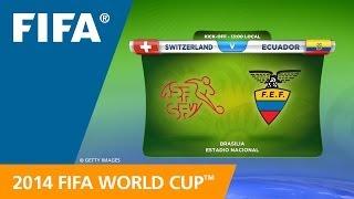 Switzerland v. Ecuador - Teams Announcement