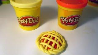 Как слепить из пластилина Плей До (или теста для лепки) пирог. How to make a pie of Play-Doh (clay).