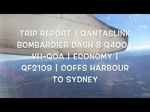 TRIP REPORT | QantasLink Dash 8 Q400 | VH-QOA | Economy | QF2109 | Coffs Harbour To Sydney