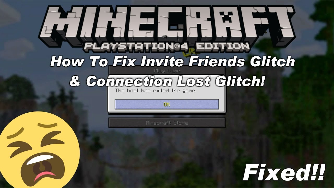 Minecraft PlayStation How To Fix The Invite Friends Glitch & Connection  Lost Issue - Tutorial - Tu64