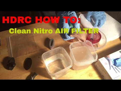 HDRC GUIDE: How to Clean RC Nitro Air Filter