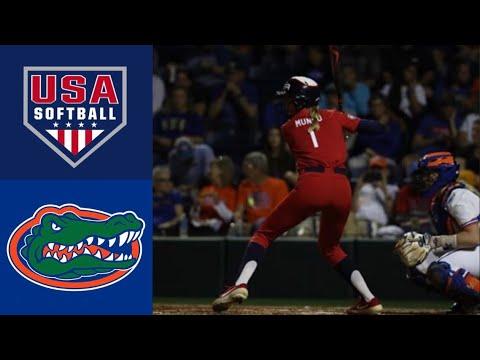 Team USA Vs #9 Florida | 2020 College Softball Highlights