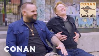 Conan's Full Interview With Briggs - CONAN on TBS
