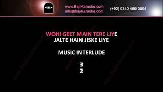 Jalte hain jis ke liye - Version 1 - Video Karaoke - Talat Mehmood & Sujata - by Baji Karaoke