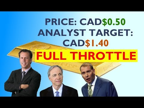 Price: CAD$0.50. ANALYST TARGET: CAD$1.40. FULL THROTTLE!