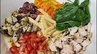 Cold Pasta Salad Recipe   Eat Your Colors Pasta Salad   Simply Mama Cooks