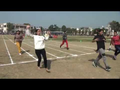 HO  GAYI BALLE BALLE -100 METERS HEATS-(GIRLS -) D A V COLLEGE  AMRITSAR ANNUAL SPORTS MEET