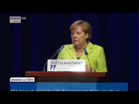 Wirtschaftstag des CDU-Wirtschaftsrates: Reden von Wolfgang Schäuble und Angela Merkel am 27.06.17