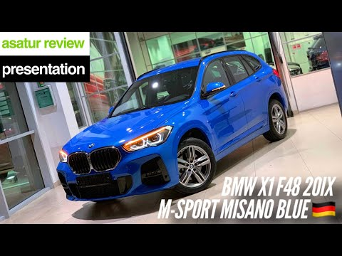 🇩🇪 Рестайлинговый BMW X1 F48 20i XDrive M-sport Misano Blue