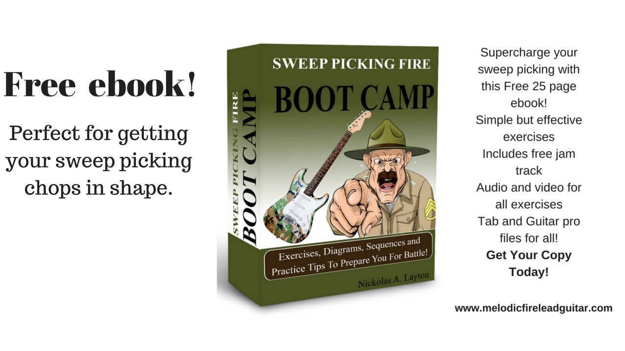 sweep picking fire boot camp [ 1280 x 720 Pixel ]