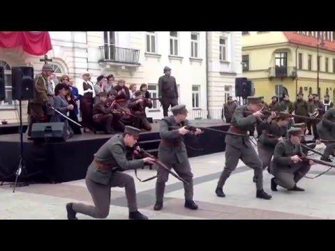 """Widowisko plenerowe """"Krzyż Walecznych"""". W oczekiwaniu na przyjazd marszałka Piłsudskiego"""