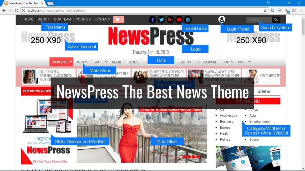 NewsPress - WordPress Magazine Themes, WordPresss News Themes