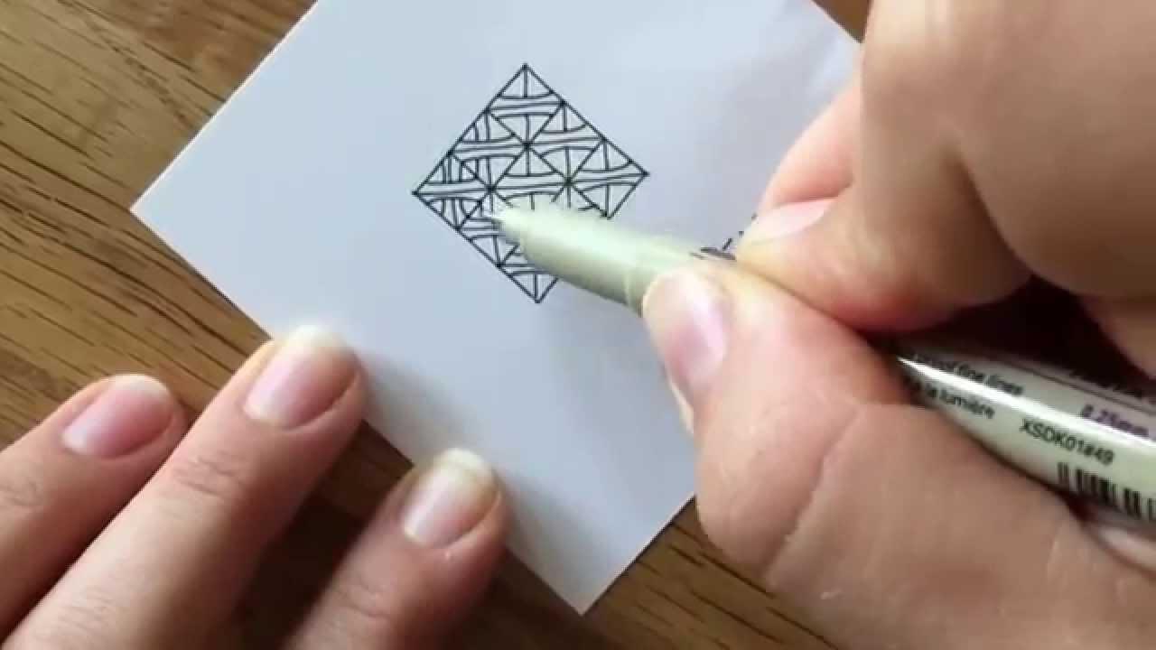 Zentangle 10 Zentangle Muster Verflechtung 9