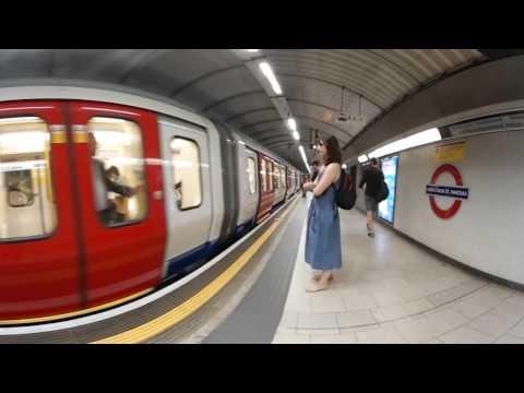 Test of gear 360 London Underground