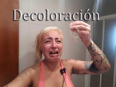 Decoloracion / gris / se me cae el pelo / español