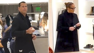 J-Lo And Alex Rodriguez Shop For Black Friday Deals In Beverly Hills