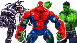 Power Rangers & Marvel Avengers Toys Pretend Play | Spider Hulk & Hulk Smash vs Venom Villains Army