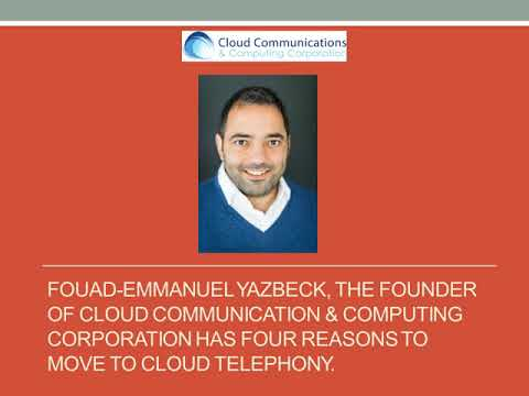 Fouad-Emmanuel Yazbeck Has Four Reasons to Move to Coud Telephony