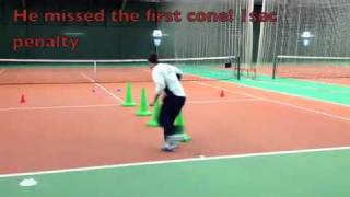 Tennis Conditioning: Speed and agility test, better footwork