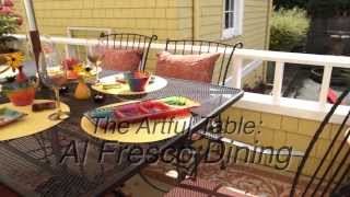Setting An Artful Outdoor Table