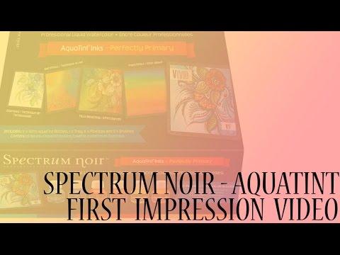 FIRST IMPRESSION || Spectrum Noir Aquatint