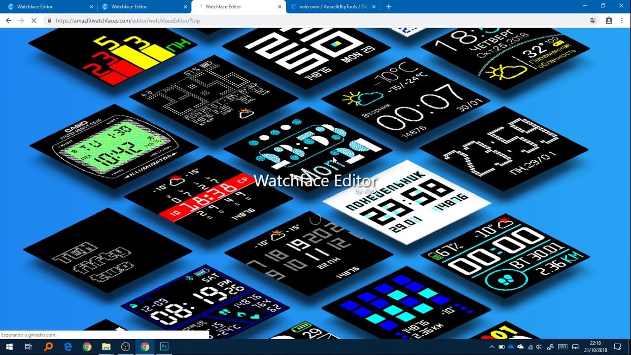 Diseña tu propio Watchface para el Amazfit Bip