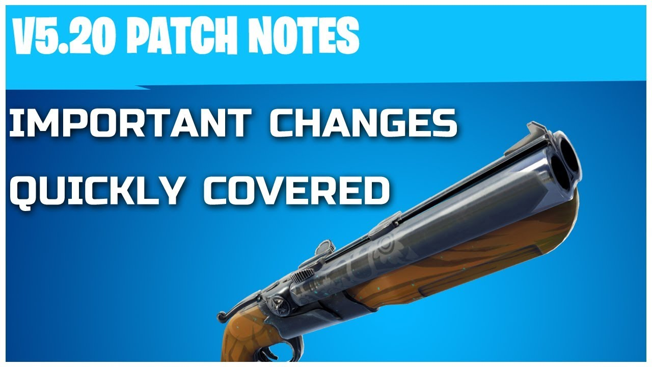 Fortnite update 5. 2 patch notes revealed – steady storm ltm.