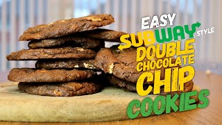 Easy Subway Style  Double Chocolate Chip Cookies | Montvale Bakes