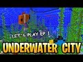 Minecraft Update Aquatic Underwater City! Live Let's Play Part 1 Survival Xbox Gameplay