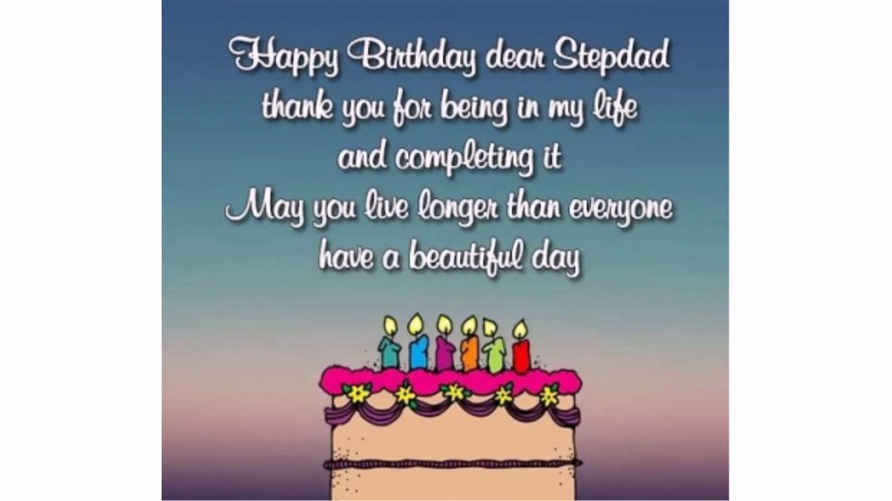 Happy Birthday Wishes for Step Dad | WishesGreeting