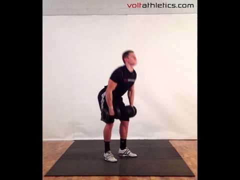 DB Hang Clean + Push Jerk | Volt Athletics