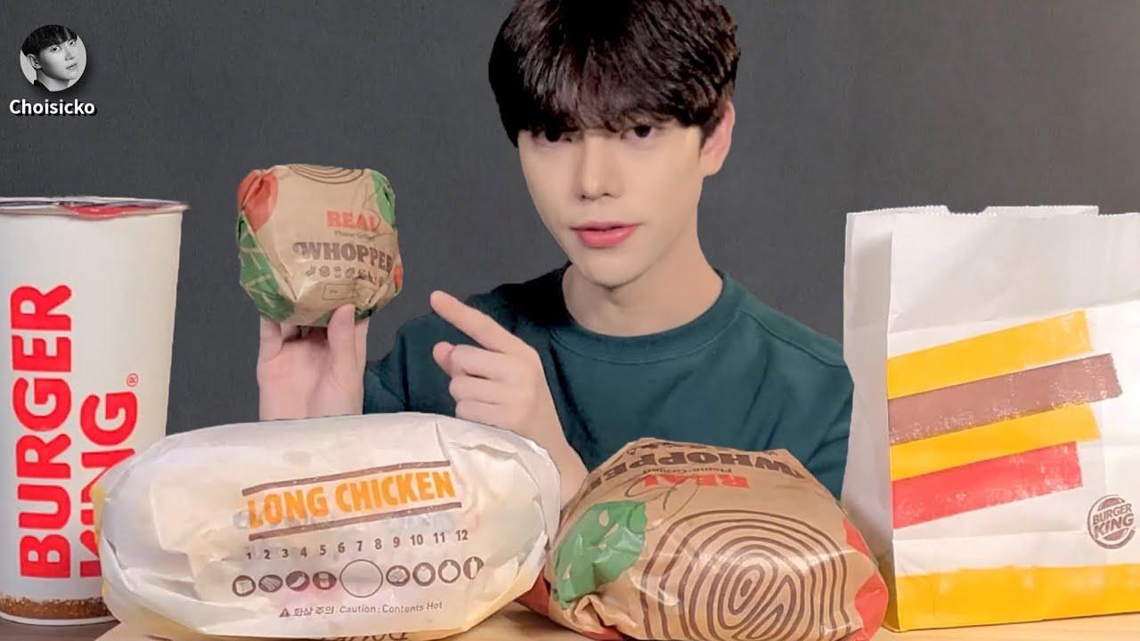 SUB)버거킹 햄버거 불고기와퍼 롱치킨버거 먹방 ASMR MUKBANG Hamburger Korean Eating Show Eating Sounds