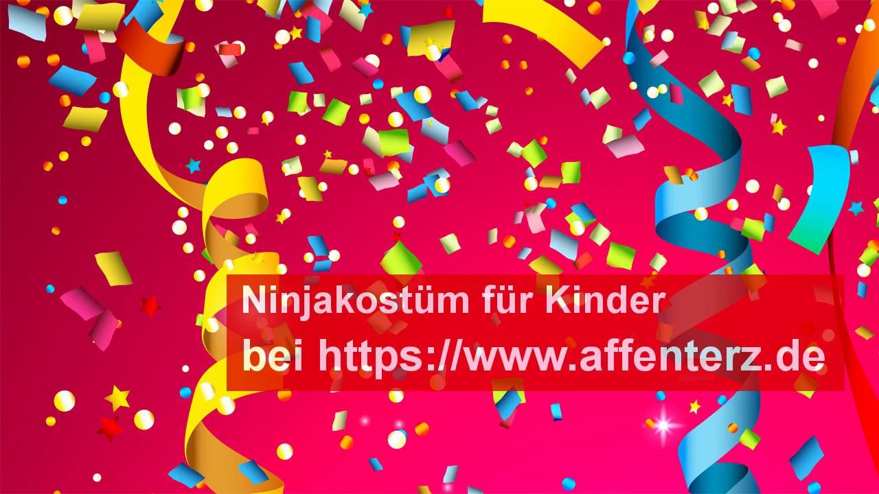 Ninjakostum Fur Kinder Richtig Bunt Fasching Feiern Youtube