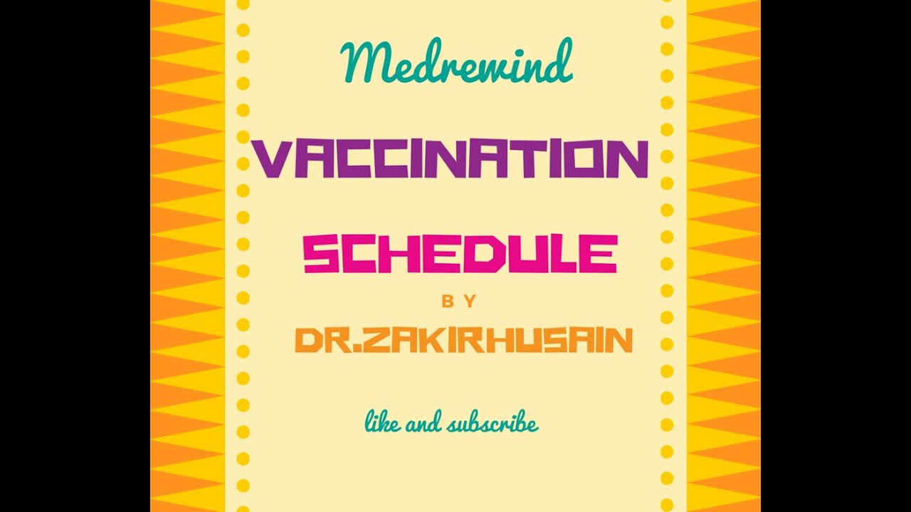 Vaccination Schedule India