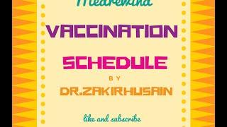 Vaccination schedule India