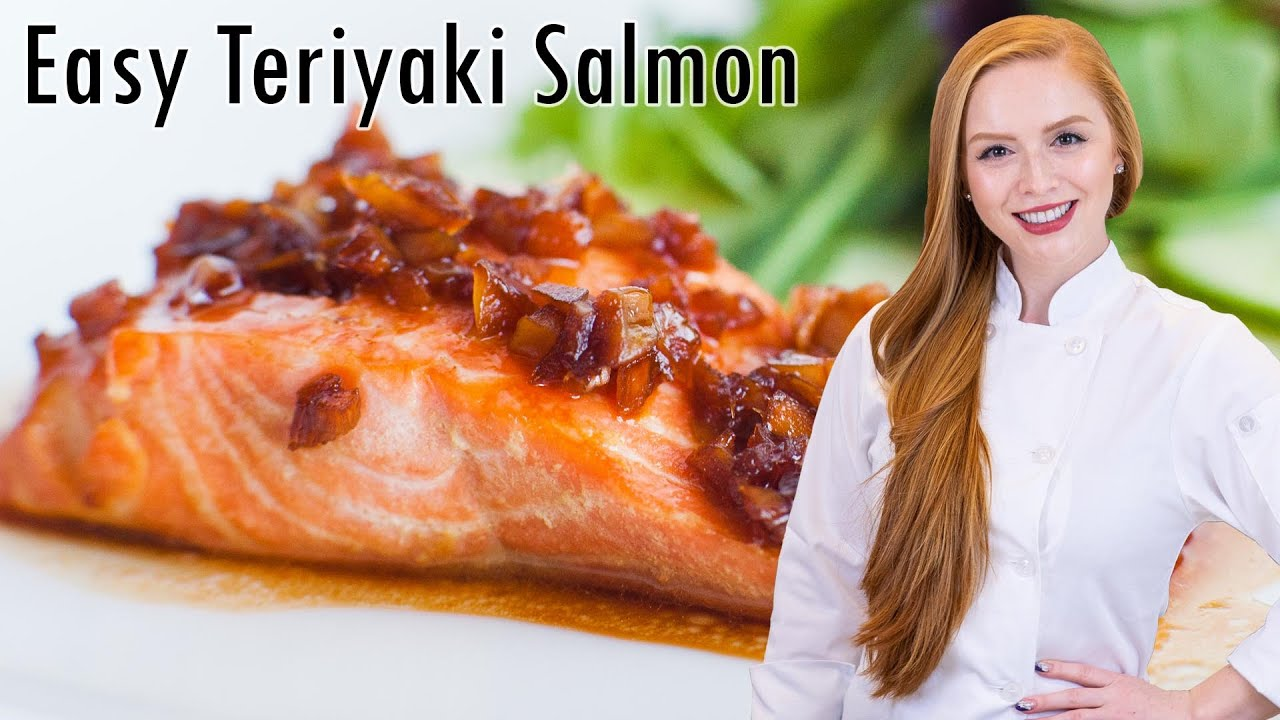 Salmon with Ginger-Garlic Glaze - Easy Salmon Recipe - YouTube