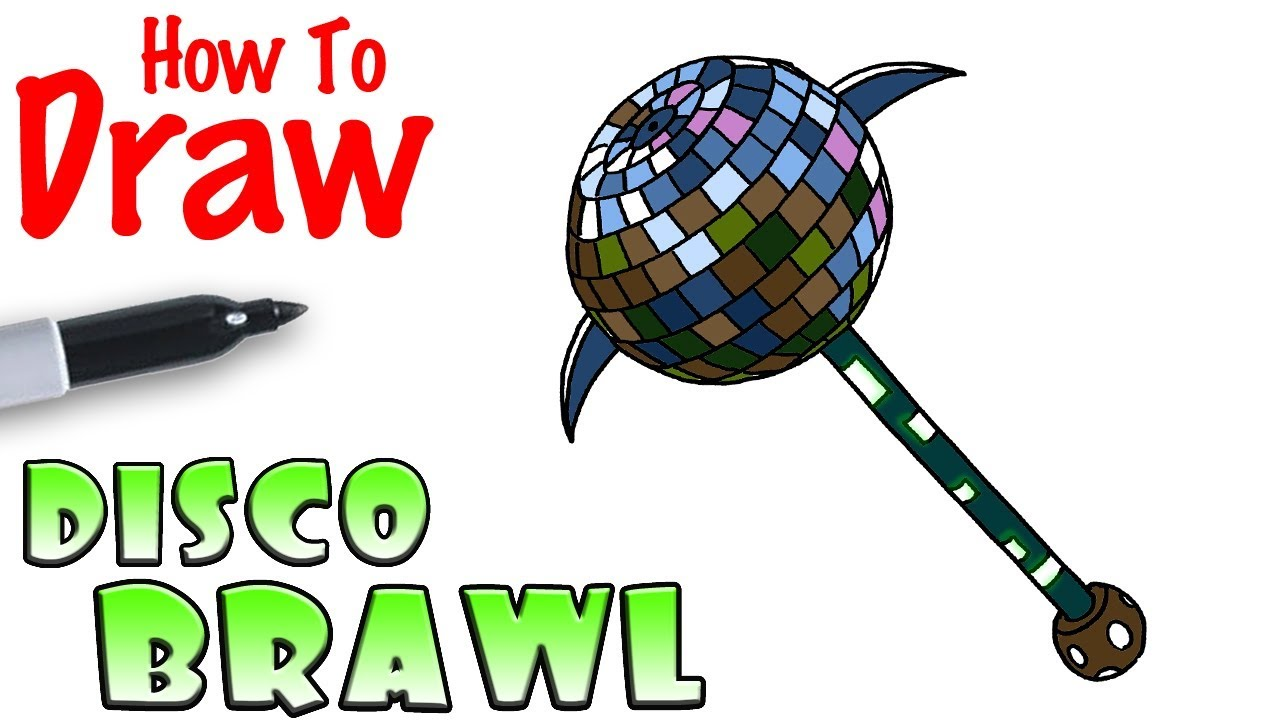 How To Draw The Disco Brawl Fortnite Youtube