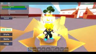 PLAYING A DRAGON BALL Z ROBLOX GAME :V