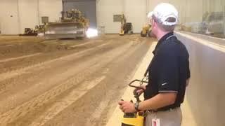 Uzaktan kumandalı buldozer çalışması