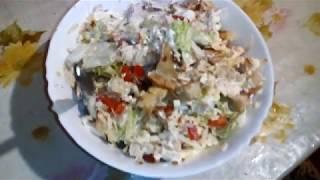 Салат Цезарь с курицей САМЫЙ БЫСТРЫЙ и простой РЕЦЕПТ.The recipe for the Caesar salad.