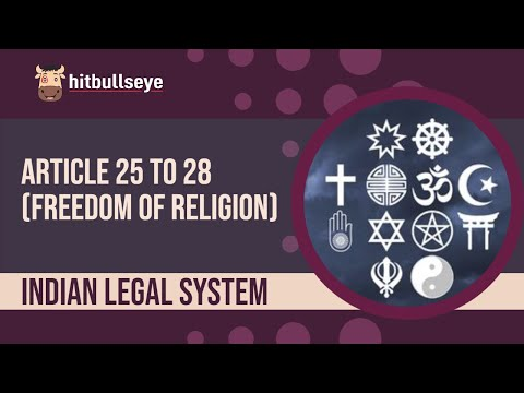 CONSTITUTION : Freedom of Religion (Article 25 to 28)