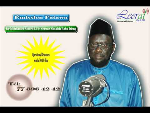Fatawa Dr Mouhamad Ahmad LO 26-10-2016