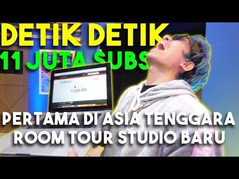 Detik Detik 11 JUTA Subs Pertama Di Asia Tenggara + Room Tour Studio Baru...